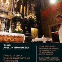 Apel Jasnogórski – 15 lipca